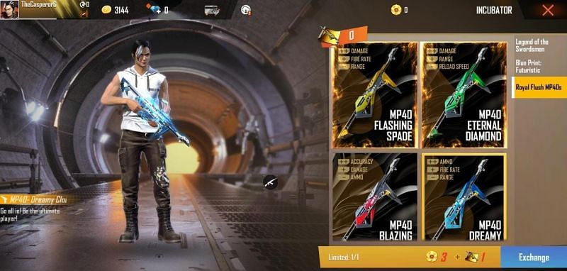 How to get Poker MP40 in Free Fire: Step-by-step guide